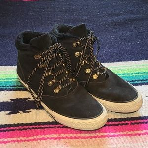 CONVERSE ALL STAR Black Suede Boots